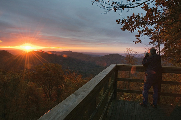 The Colors of Fall: Black Rock Mountain State Park